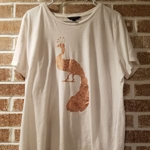 Banana Republic womens peacock t-shirt XL